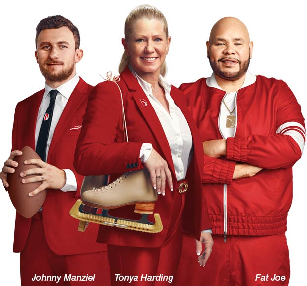 Direct Auto Spokespersons: Johnny Manziel, Tonya Harding and Fat Joe